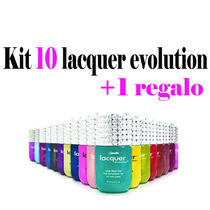 Kit 10 Lacquer Evolution 15 Ml ( Gel Gelish ) + Regalo