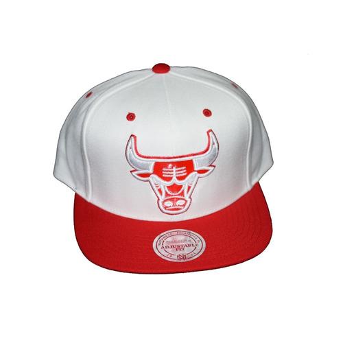Gorra Blanca Con Rojo Lana Sólido Ajustable Chicago Bulls b955367c9d2