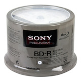 50 Dvd Bd-r Blu Ray Imprimible Sony 25 Gb 6x Facturado Full