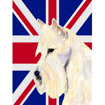 Terrier De Trigo Escocés Con Inglés Union Jack Británica