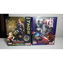 Sh Figuarts Thor Y Capitán América Nuevos