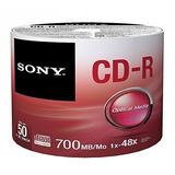 Cd-r Disco Virgen Sony 50cdq80sp Torre 50 Pzas 700mb 80min