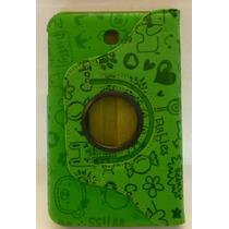 Funda Giratoria Samsung Galaxy Tab 3 7 Pulgadas Verde Decora