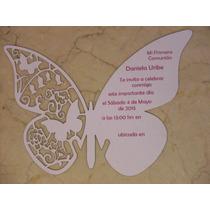 Invitacion Mariposa Corte Laser Impresión Digital