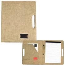 Carpeta Porta Documentos Yute. Empresas, Eventos, Promos*