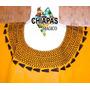 Blusa De Chiapas Bordada A Mano / Talla 2xl / Amarilla