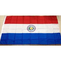 Bandera De Paraguay 150x90cm. Banderas Del Mundo Y Temáticas