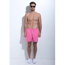 Traje De Baño Para Caballero Azul Siete Pink Neon