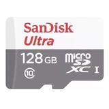 Tarjeta De Memoria Sandisk Sdsquns-128g-gn6ta Ultra Con Adaptador Sd 128gb