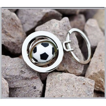 Balon Futbol Precioso Llavero Metalico Giratorio Futbol 07