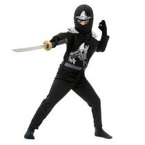 Disfraz De Ninja Negro Para Niños Y Adolescentes Envio Grati