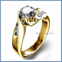 Anillo De Compromiso Diamante Natural .50ct Oro 10k -50% 229