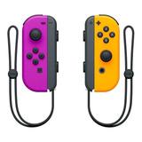 Control Joystick  Inalámbrico Nintendo Joy-con Púrpura Neón/naranja Neón