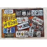 Placas Paises Cuadro Cartel 46 Cm X 31 Cm