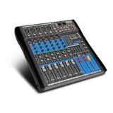 Mezcladora Mixer 7 Canales Bluetooth Efectos Es602 Xtuga