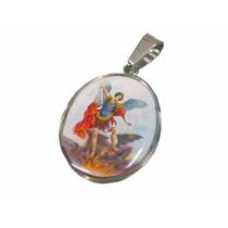 Medalla Religiosa De Acero San Miguel Arcangel