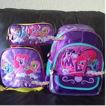 My Little Pony Kit Mochila Kinder Lonchera Lapicera Original