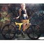 Bicicleta De Montaña Plegable Color Amarillo 26