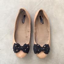 Zapatos Flats Zara Mujer Color Beige Talla 24