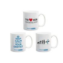 Paquete 3 Tazas Excelente Regalo Dentista Odontólogo Dental