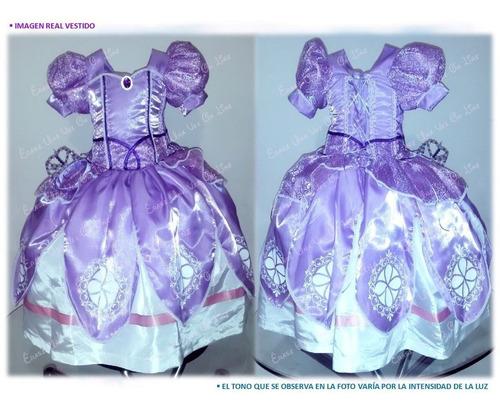 Vestido Princesa Sofia Niña Disfraz Hermos Excelente Calidad