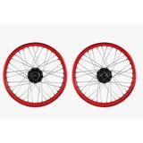Rin Delantero Completo Italika Dm150 Rojo 1.85x19 Pulgadas