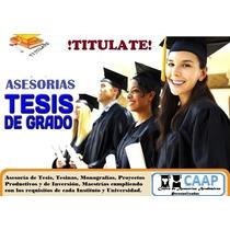 Asesoría De Tesis Tesinas Monografias Proyectos Productivos