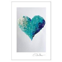 Aguamarina Del Corazón Impresiones Postal. 10 Paquete 4x6. L
