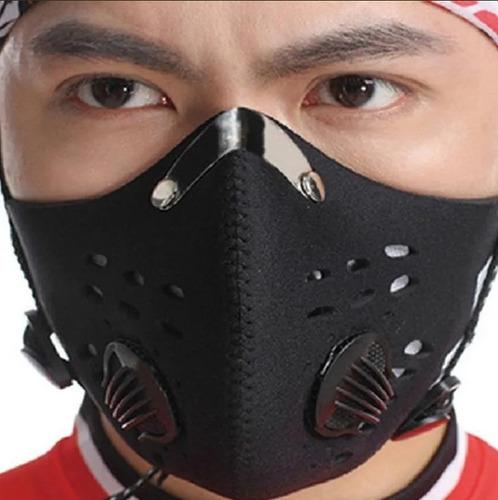 Mascara Cubrebocas Filtro Kn95 Pm2.5 Carbon Activo Lavable