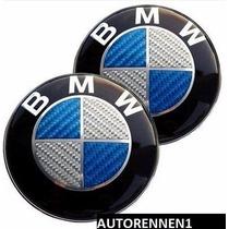 Emblema Cofre O Cajuela Bmw 82mm Fibra Carbono Azul 1 Pieza