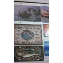 Cuadros Y Placas Decorativas De Lamina, Tematica De Pesca