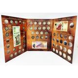 Álbum Tríptico Para Monedas Conmemorativas $5 $20 Y Billetes