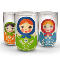Set Vasos Apilables Matryoshka Babush Kups Fred And Friends