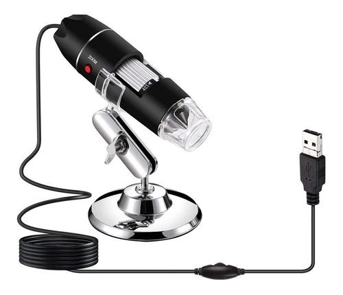 Mini Microscopio Digital Usb Led 1000x Zoom Negro