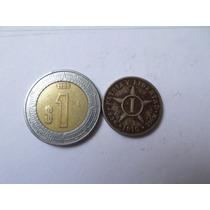 Moneda Antigua 1 Centavos 1916 Cuba