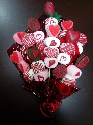 Paletas De Bombon Con Chocolate 14 Febrero Fechas Especial En Venta