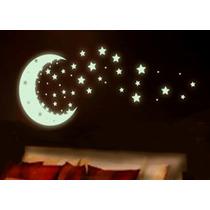 Vinilo Photofluorescente De Estrellas , Brilla En Obscuridad