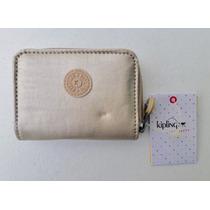 3236aa5b2fb Kipling Cartera Pequeña Tops Dorado 100% Original en venta en ...