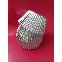 125 Capacillos Metalicos Plateados No. 73