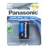 Pila Bateria Panasonic 9v Cuadrada Economica Uso Rudo