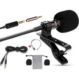 Microfono Solapa Clip Profesional Con Adaptador Mic Y Audio