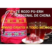 Té Rojo Pu-erh Original De China Importado, Paquete De 3