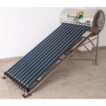 Calentador Solar 130 Litros 10 Tubos Acero Inoxidable