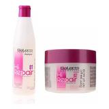 Salerm ® Pack Tratamiento Botox Shampoo Hi Repair 250 Ml + Mascarilla Acondicionador 250ml Hair Care System Envio Gratis