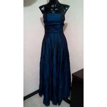 Vestido De Fiesta Azul Electrico Talla Ch