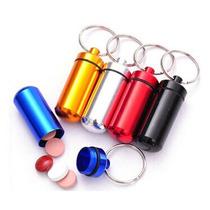 Llavero-pastillero Porta Pildora De Aluminio Color Varios