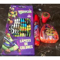 Colores Goma Tortugas Ninja Turtles Tmnt Nickelodeon Hm4