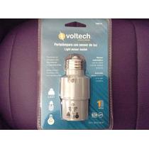 Socket Con Fotocelda Voltech Ahorra Luz Foco Led Y Ahorrador
