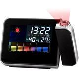 Reloj Despertador Con Proyector Laser De La Hora