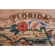 Bandeja Madera Florida By Carrib Novelty Retro Vintage